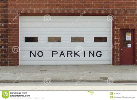 garage door will not a garage door displays no parking sign royalty free stock