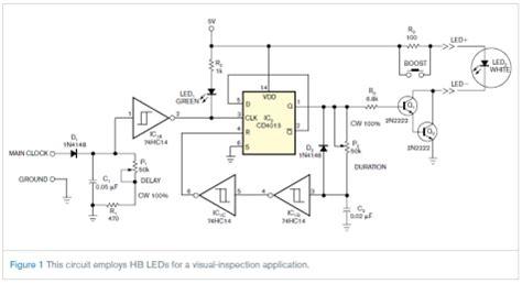Led Circuit Diagram Strobe Has Independent Delay