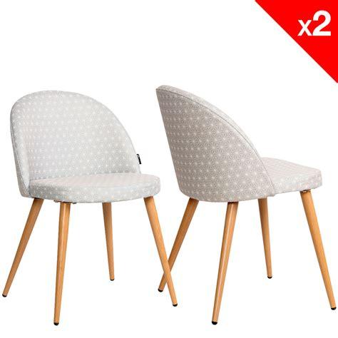 chaises scandinave chaise scandinave vintage tissu étoiles lot de 2 giza