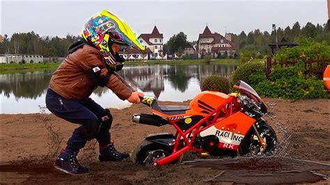 Baby Biker Senya Ride On Mini Bike! Sportbike Stuck In The