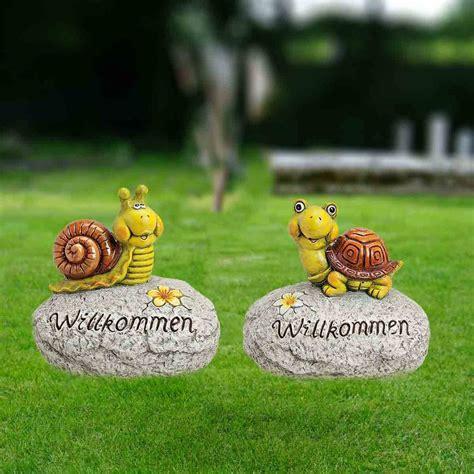 Gartenfiguren Deko Kaufen by Deko Gartenfigur Schnecke Schildkr 246 Te Willkommen Kaufen