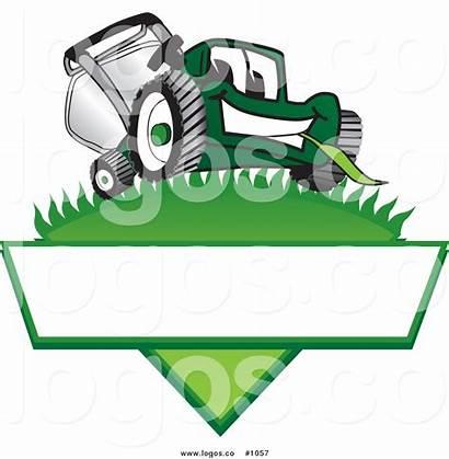 Lawn Mower Clip Logos Care Cartoon Vector