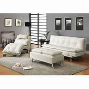 Futon For Living Room by Coaster Furniture 300291 Contemporary Futon Sleeper Sofa Bed In White With Ca