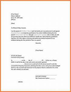 medical treatment authorization letter template child With naming a guardian for your child template