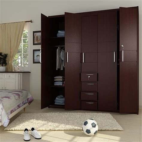 Wooden Wardrobe For Bedroom by 5 Doors Wooden Wardrobe Hpd441 Fitted Wardrobes Al
