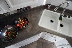 Lovely Imperfection - DIY Concrete Countertops Over