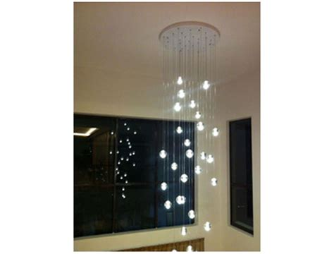 pl276 long staircase crystal glass ball chandelier shop