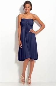 navy blue knee length bridesmaid dresses | iPunya