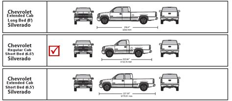 Silverado Bed Size by Vehicle Template