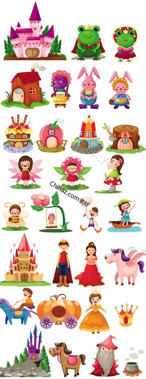 fairy tale characters vector graphics