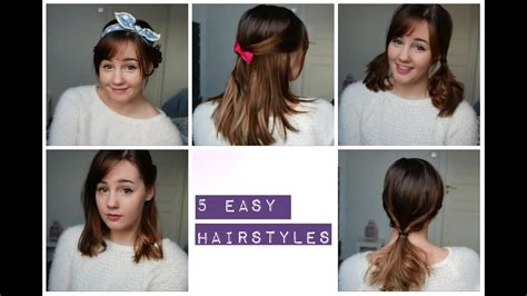 5 Easy And Cute Hairstyles (medium Length Hair)