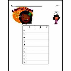 Subtraction Using Hundreds Chart Worksheet Free First Grade Mental Math Pdf Worksheets Edhelper Com