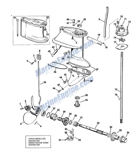 20 Hp Johnson Outboard Diagram by Johnson Gearcase Parts For 1967 20hp Fdl 21 Outboard