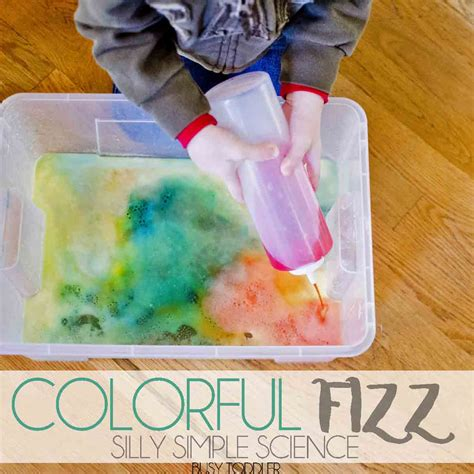 easy preschool science activities colorful fizz simple toddler science busy toddler 422