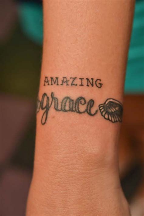 amazing grace tattoo | Tattoo Lettering and Scripts | Pinterest | Fonts, Song tattoos and Grace