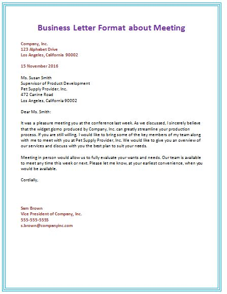 correct business letter format canada letter