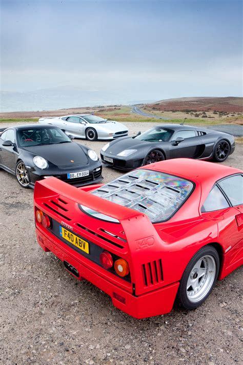 Ferrari F40 V Porsche Gt2 Rs V Noble M600 V Jaguar Xj220