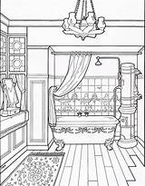 Coloring Victorian Bathroom Adult Furniture Colouring Sheet Houses Modern Clean Drawing Sheets Toilet Printable Interior Homes Bath Paper Coloringpagesfortoddlers Shower sketch template