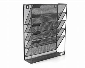 mesh wall mounted hanging file holder organizer literature With hanging document holder