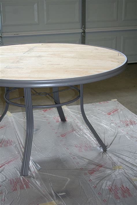 table top heat l how to create a concrete table top for your patio table