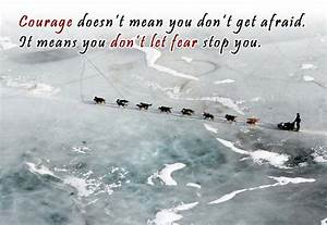 Courage is not ... Dog Sledding Quotes