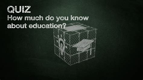 Quiz How Much Do You Know About Education? Education