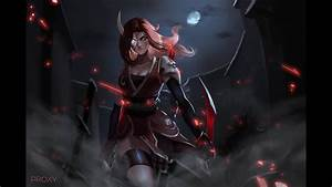 BLOOD MOON KATARINA SKIN! - League Of Legends - YouTube  Katarina