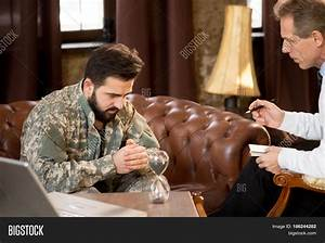 Military Man Listening Psychologist Image & Photo | Bigstock