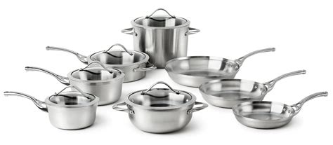 clad  calphalon stainless steel tri ply cookware