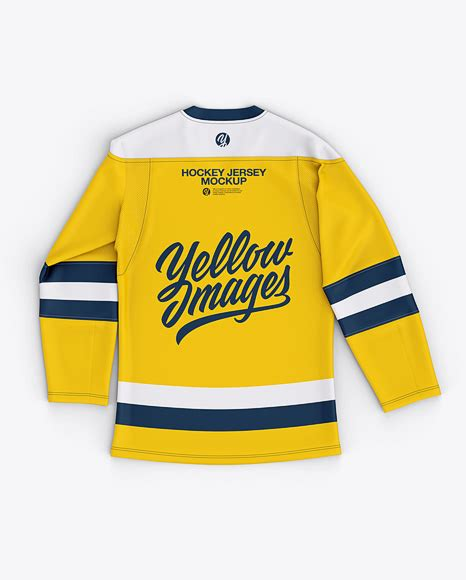 Choose from 8400+ mockup hockey jersey graphic resources and download in the form of png, eps, ai or psd. Mens Lace Neck Hockey Jersey Mockup Back Top View (PSD ...