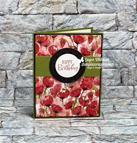 birthday card  stampin  peaceful poppies designer