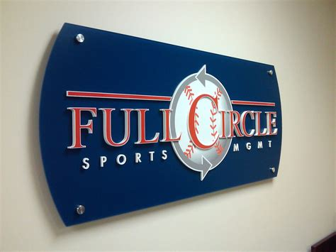 acrylic logo panel signs americas instant signs