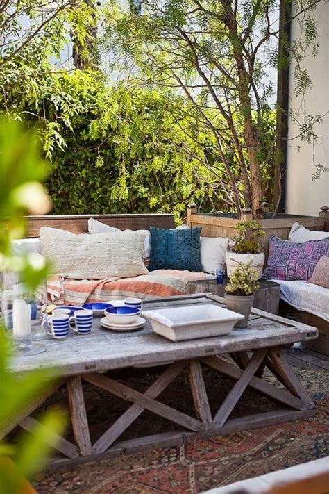 bohemian backyard small and cozy bohemian outdoor spaces house design and decor