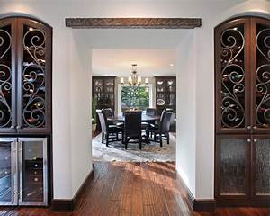 wrought iron window decor Dining Room Mediterranean with