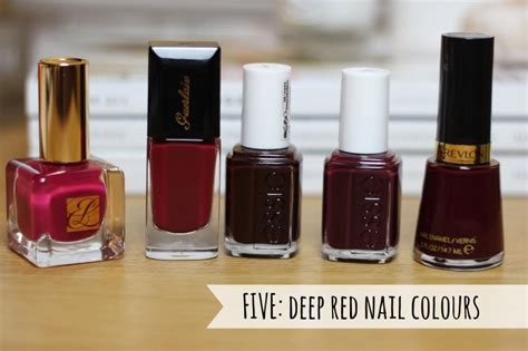 deep red nail colours  beauty junkie  london