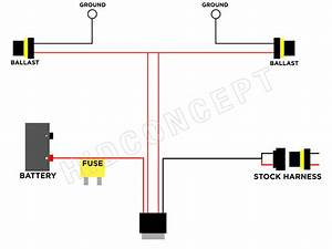 H11 To 9006 Conversion Single Relay Harness  U2013 Hid Concept