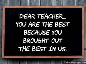 Thank You Notes for Teacher: Messages and Quotes ...
