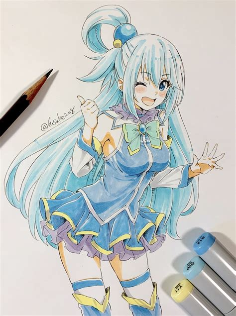 Aqua drawing : Konosuba