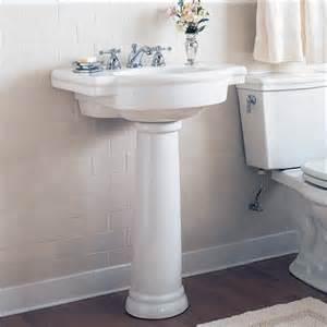 american standard retrospect pedestal sink bathroom