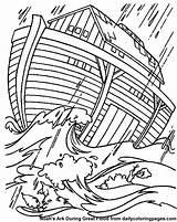 Coloring Flood Designlooter Noahs Ark Storm Bible Sheets sketch template