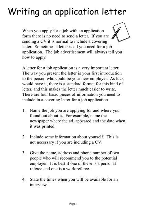 17 simple application letter exles pdf doc exles