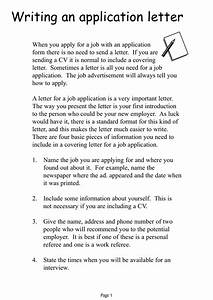Professional Cover Letter Examples 17 Simple Application Letter Examples Pdf Doc Examples