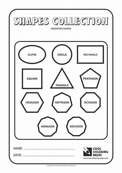 Shapes Geometric Coloring Pages Geometry Cool Educational