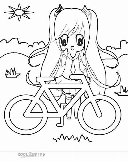 Coloring Pages Chibi Printable Cool2bkids Cartoon