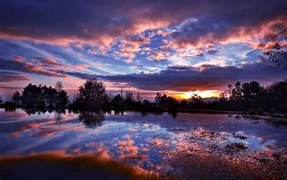 Nature Dark Night Sunset Desktop Wallpapers Lake