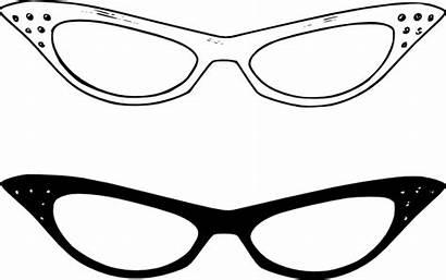 Glasses Clip Retro Svg Clipart Clker Vector