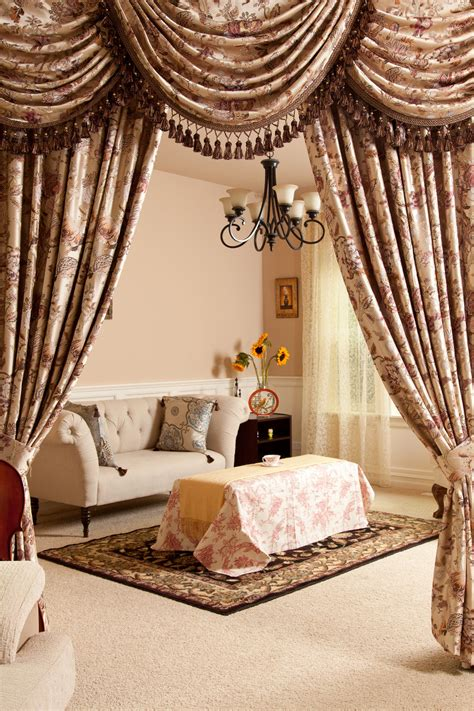 Curtains Drapes - tree of swag and tails valance curtain drapes