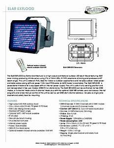 Elar Exflood Flood Light Manuals