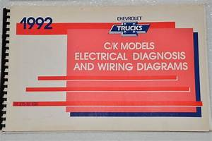 1992 Chevy Truck C K 1500 2500 3500 Suburban Electrical Wiring Diagrams Manual
