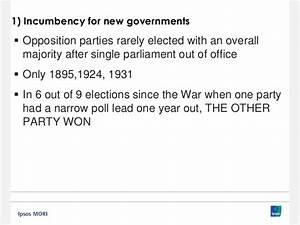 Ipsos MORI General Election Briefing: The Final Week